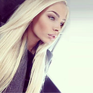 Unprocessed #613 Full Lace Wig Virgin Brazilian Straight Blonde Front Lace Human Hair Wigs For White Women Free Part