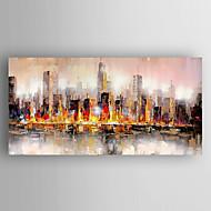 pintura al óleo moderna mano abstracto pintado con estirada enmarcada