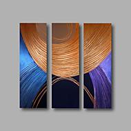 Ručně malované Abstraktní / Abstraktní portrétModerní Tři panely Plátno Hang-malované olejomalba For Home dekorace