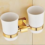 Porta spazzolini / Gadget per il bagno Ti-PVD A muro 23cm*8cm*12cm(9*3.1*4.7inch) Ottone Neoclassico