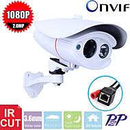 CCTV Sony CMOS 2MP Megapixel HD 1080P Waterproof  2pcs Array Leds Ir-cut  3.6mm IP Camera Surveillance Camera