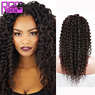 Best Selling Human Hair Kinky Curly Lace Front Wigs #1b Middle Part Curly Lace Wigs For Black Women