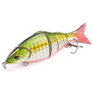 Mizugiwa Jointed Life-like Swimbait Hard Fishing Bass Bait Suspend Lure 21g 120mm Color Silver-Green