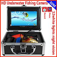 fishfinder onderwater camera 30m onderwater vissen dvr opname camera HD 1000 TVL 7 '' digitale LCD-scherm