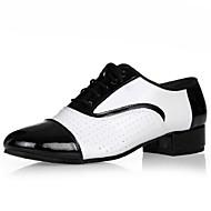 Zapatos de baile ( Blanco ) - Latino - No Personalizables - Tacón Cuadrado