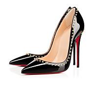 נעלי נשים - בלרינה\עקבים - עור פטנט - עקבים / בלרינה בייסיק - שחור / Almond - חתונה / קז'ואל / מסיבה וערב - עקב סטילטו