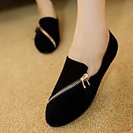 로퍼 - 야외 / 캐쥬얼 - 여성의 신발 - 컴포트 / 둥근 앞코 / 닫힌 앞코 - 패브릭 - 플랫 - 블랙 / 브라운