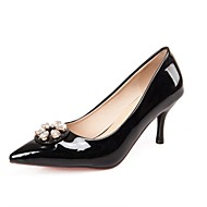 Women's Shoes Patent Leather Stiletto Heel Heels / Pointed Toe Heels Wedding / Party & Evening / Dress Black / Pink