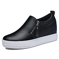 Women's Shoes Synthetic Spring/Fall/Winter Creepers Slip-on Office & Career / Casual Platform Zipper Black/White