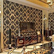 Цветочные Обои Классика Облицовка стен , С начесом Velvet Wallpaper European Damascus