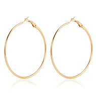 Hoop Earrings Crystal Pearl Gold Plated 18K gold Simulated Diamond Alloy Fashion Gold Rose Gold Jewelry 2pcs