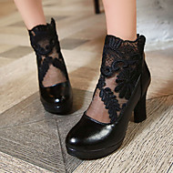Women's Shoes Heel Heels / Platform Heels Office & Career / Dress / Casual Black / White / Burgundy/013