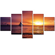 Unframed 5 Panels Sunset At Sea Modern Home Wall Decor Canvas Art HD Print Painting Canvas Picture For Living Room