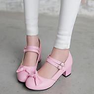 Women's Shoes Heel Heels / Round Toe Heels Office & Career / Dress / Casual Blue / Pink / Purple / Almond