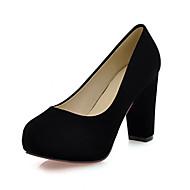 Women's Shoes Leatherette Chunky Heel Heels Heels Office & Career / Dress / Casual Black / Blue / Green / Red
