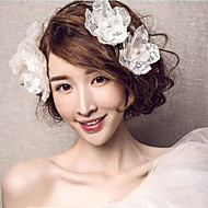 Fleurs Casque Mariage / Occasion spéciale / Casual / Bureau & Carrière Imitation de perle / Lin FemmeMariage / Occasion spéciale / Casual