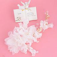 Capacete Flores Casamento / Ocasião Especial Strass / Imitação de Pérola / Linho Mulheres Casamento / Ocasião Especial 1 Peça