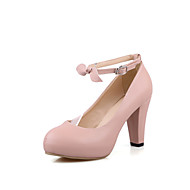 Women's Shoes Heel Heels / Platform / Round Toe Heels Office & Career / Dress / Casual Blue / Pink / Purple /666-9