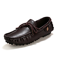 Men's Shoes Office & Career / Casual Boat Shoes Black / Brown / White
