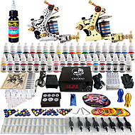solong tattoo® kompletní tetování Kit 2 profesionální stroje 40 inkousty napájení pedálů jehly úchytky tipy tk228