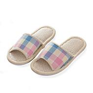 Chaussures Femme-Décontracté-Multi-couleur-Talon Plat-Bout Ouvert / Chaussons-Chaussons-Lin