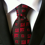 New Black red Classic Formal Men's Tie Necktie Wedding Party Gift TIE0070