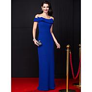 ts couture® guaina abito da sera formale / colonna off-the-spalla pavimento-lunghezza chiffon con fiocco (s)