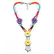 European Fashion Tassel Floral Multistorey Necklace Alloy Statement Necklaces 1pc