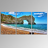 VISUAL STAR®3 Panel Seascape Canvas Print Modern Durdle Door Wall Art Ready to Hang