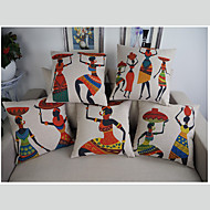 Retro high quality Ancient Egyptian style cotton linen Cushion Home Pillow Case simplicity Decorative Pillow Cover