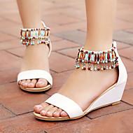 Women's Shoes Heel Wedges / Heels / Peep Toe Sandals / Heels Outdoor / Dress / Casual Black / White / Beige