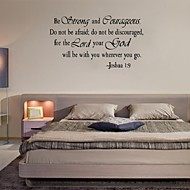 Christian Inspirational Quotes Vinyl Lettering Wall Stickers  Decals For Living Bedroom Home Decoration English Quote
