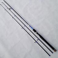 חכת ספינינג כבל פלדה / אלומיניום / EVA / פחמן 2.1 M הטלת פיתיון / דייג במים מתוקים / דיג כללי רוד שחור / לבנדר-LI JI