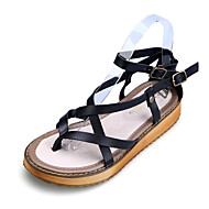Girls' Shoes Dress / Casual Slingback / Comfort / Open Toe Leather Sandals Black / Brown / White