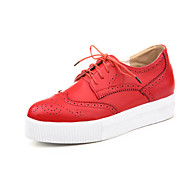 Women's Shoes Wedge Heel Wedges / Fashion Boots / Pointed Toe Fashion Sneakers Outdoor Black / Red