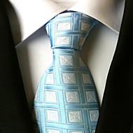 עניבה - משובץ (רשת) (כחול , פוליאסטר)