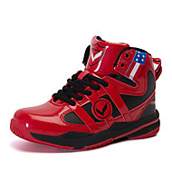 Boy's Profession Basketball Shoes Athletic/Casual/Basketball Fashion PU Leather Sneakers Shoes Bule/Red