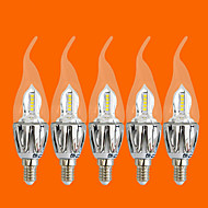 5 pcs FSL®5W E14 LED Candle Lights C35 20 SMD 3528 440 lm Warm White Decorative AC 220-240 V