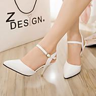 נעלי נשים - סנדלים / בלרינה\עקבים - דמוי עור - עקבים / שפיץ - שחור / כחול / ורוד / אדום / לבן / Almond - שטח / שמלה / קז'ואל - עקב סטילטו