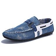 Men's Shoes Casual Denim Boat Shoes Black / Blue
