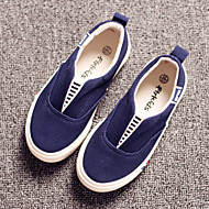 Boy's Girl's Loafers & Slip-Ons Spring Summer Fall Comfort Canvas Outdoor Casual Athletic Flat Heel Gore Blue White Black and Red