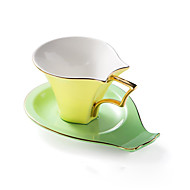 moda clássica esmalte nordic cappuccino copos de cerâmica e pires de chá da tarde conjunto caixa de presente