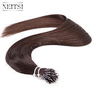 "Neitsi® 20"" 1g/s Nano Ring Loop Straight Hair 100% Human Hair Extensions Black 2# Include Hair Tools"