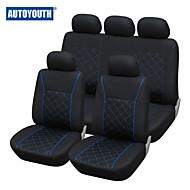 autoyouth linha azul ajuste universal tampa do assento de carro mais carro cobre acessórios interiores cor preta assento de carro