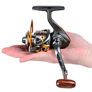 Mini Metal Fishing Spinning Reel ,12+1 Ball Bearing Gear Rate 5.2:1 Interchangeable Handle