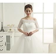 Wedding / Party/Evening Lace Shrugs 3/4-Length Sleeve Wedding  Wraps