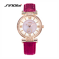 SINOBI Women's Fashion Watch Water Resistant / Water Proof Quartz Leather Band Purple