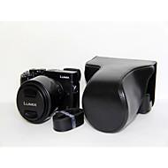 Etuis-Une épaule-Appareil photo numérique-Panasonic-Résistant à la poussière-Noir Café Marron