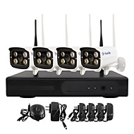 YanSe® WiFi IP Camera NVR Kit 720P CCTV Cameras Videcam indoor IR security camera self defense security cameras