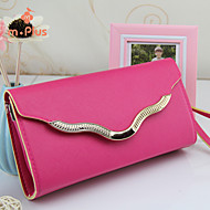 M.Plus® Women's Fashion Solid PU Leather Messenger Shoulder Bag
